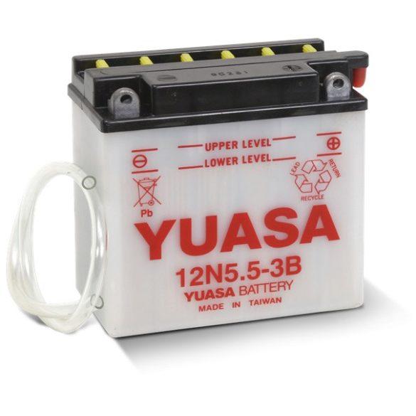 YUASA 12N5.5-3B 12V 5Ah motor akkumulátor