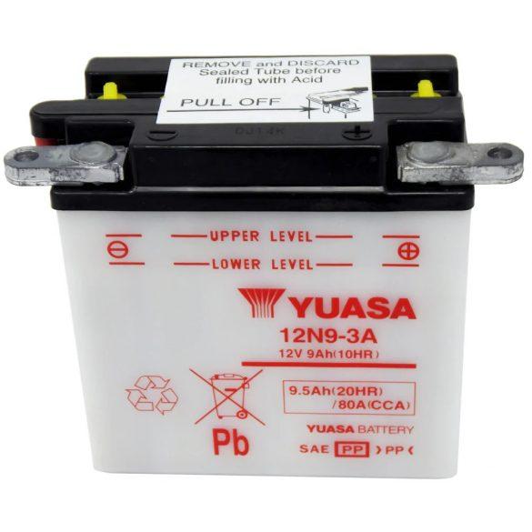 YUASA 12N9-3A 12V 9Ah motor akkumulátor