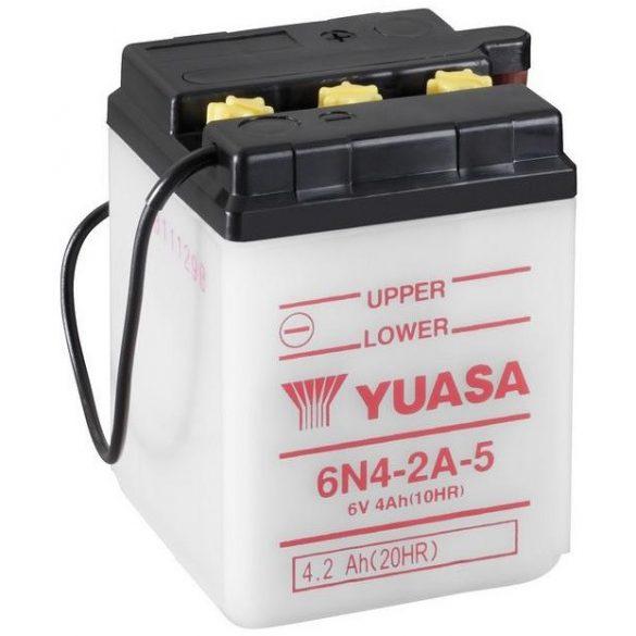 YUASA 6N4-2A-5 6V 4Ah motor akkumulátor