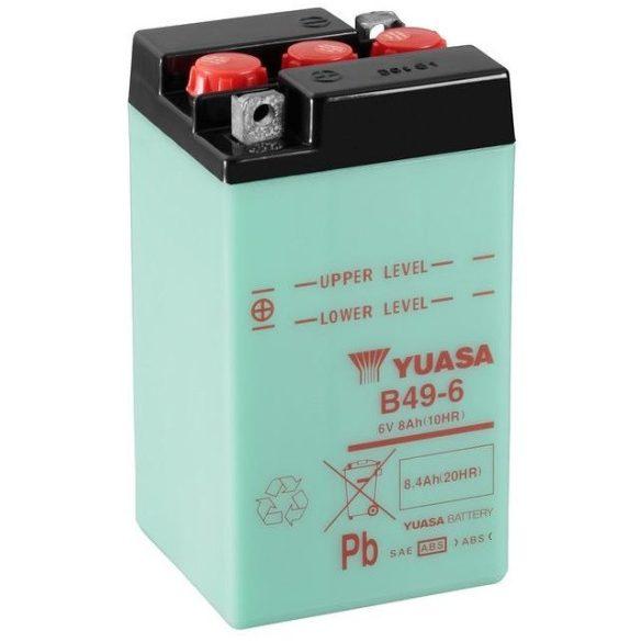 YUASA B49-6 6V 8Ah motor akkumulátor