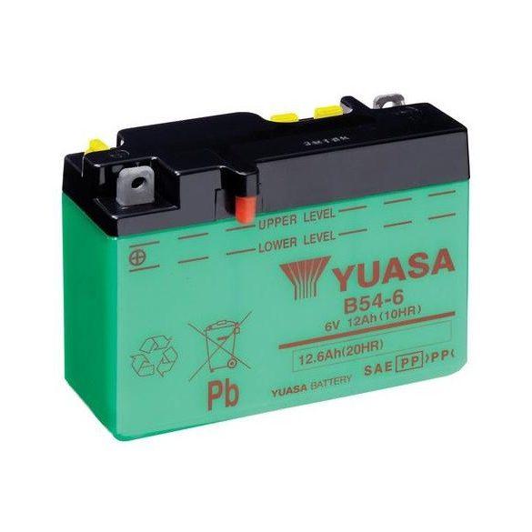 YUASA B54-6 6V 12Ah motor akkumulátor