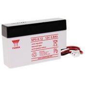 12V 0,8Ah YUASA NP0.8-12 zselés akkumulátor