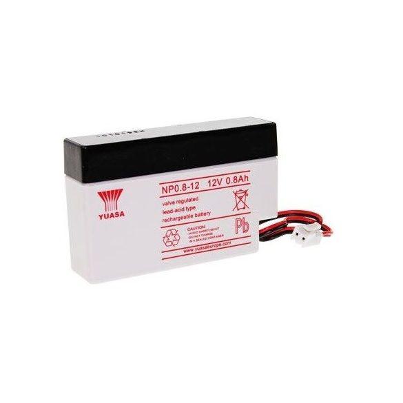 YUASA NP0.8-12 12V 0,8Ah zselés akkumulátor
