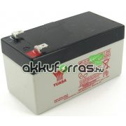 12V 1,2Ah YUASA NP1.2-12 zselés akkumulátor
