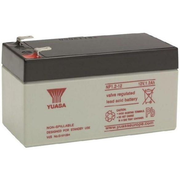 YUASA NP1.2-12 12V 1,2Ah zselés akkumulátor