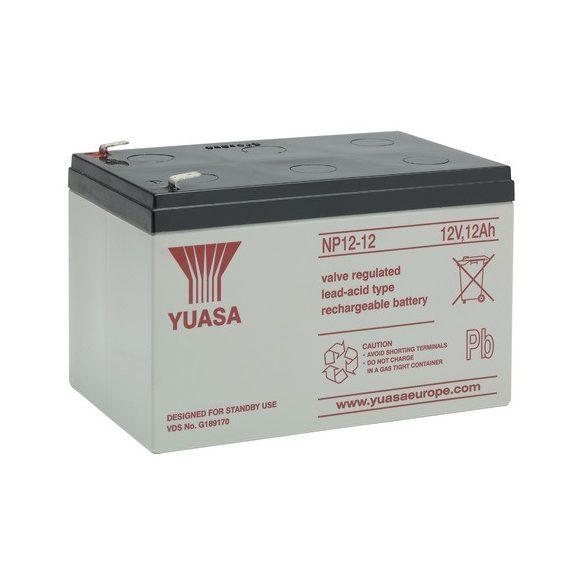 YUASA NP12-12 12V 12Ah zselés akkumulátor