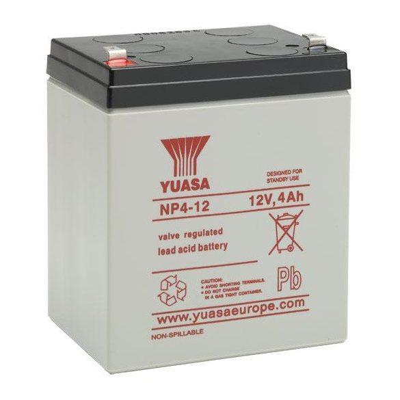YUASA NP4-12 12V 4Ah zselés akkumulátor