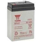 YUASA NP4-6 6V 4Ah zselés akkumulátor