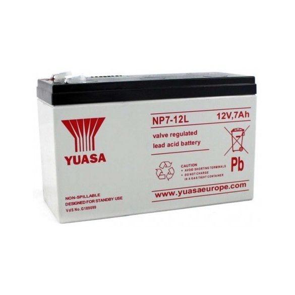 YUASA NP7-12L 12V 7Ah zselés akkumulátor