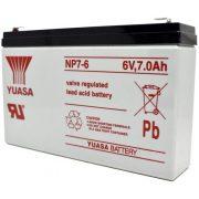 6V 7Ah YUASA NP7-6 zselés akkumulátor