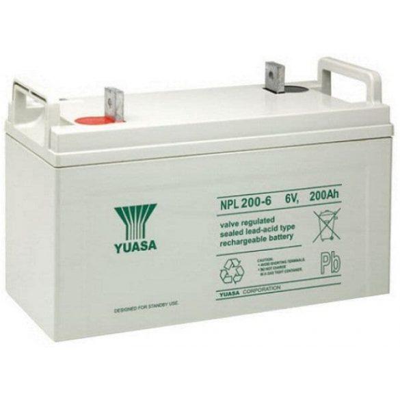 YUASA NPL200-6 6V 200Ah zselés akkumulátor