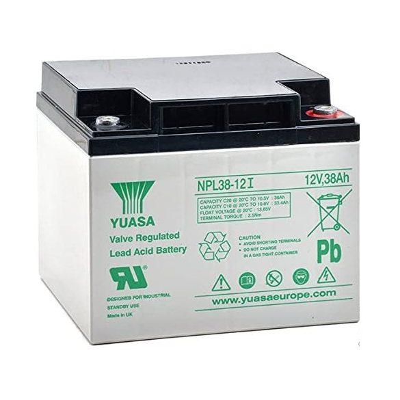 YUASA NPL38-12 12V 38Ah zselés akkumulátor