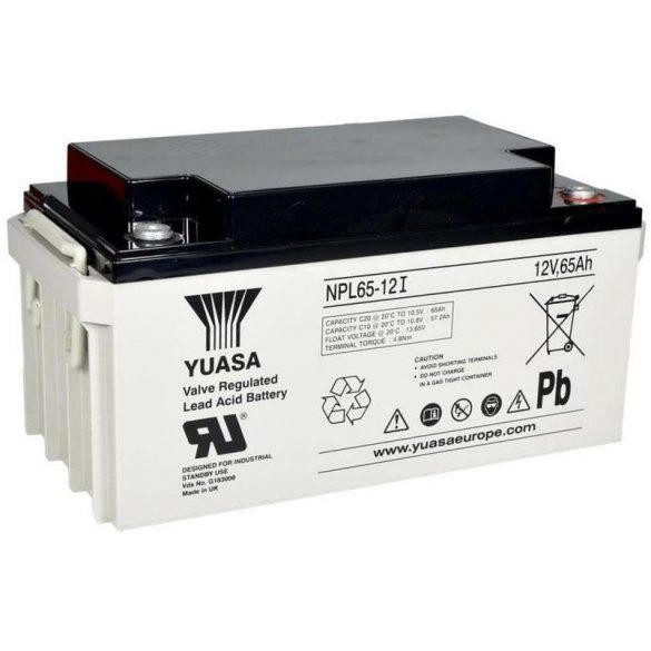YUASA NPL65-12 12V 65Ah zselés akkumulátor