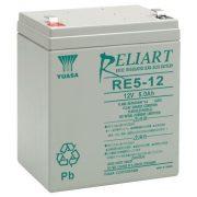 12V 5Ah YUASA RE5-12 12V zárt gondozásmentes zselés akkumulátor