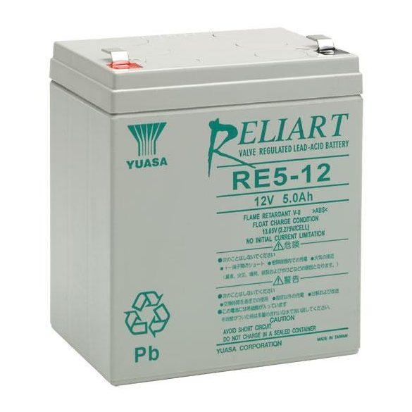 YUASA RE5-12 12V 5Ah zselés akkumulátor