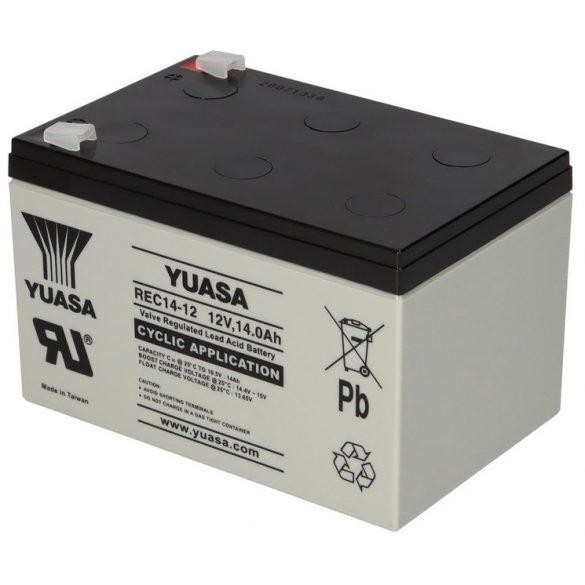 YUASA REC14-12 12V 14Ah ciklikus elektromos kerékpár akkumulátor