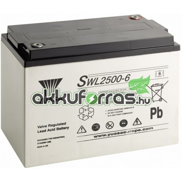 YUASA SWL2500-6 6V 180Ah zselés akkumulátor