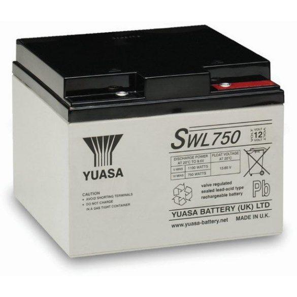 YUASA SWL750 12V 24Ah zselés akkumulátor