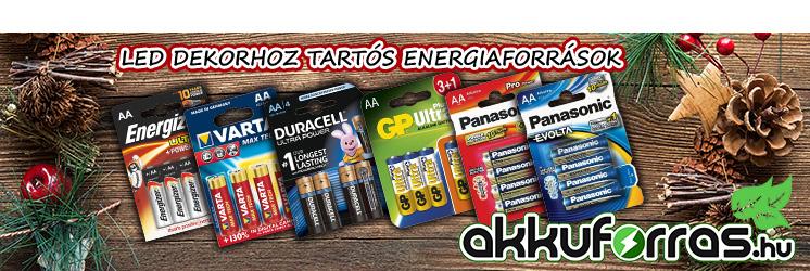 Energizer   Duracell   Fujitsu  GP   Maxell   Panasonic   Sony  Varta  elemek széles választékban